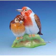 Hollohaza Pair of Birds Figurine   klugex.com/collectibles Knives And Swords, Little Birds, Hungary, Parrot, Pets, Animals, Parrot Bird, Animales, Small Birds