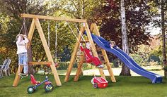 Wooden swings for backyard playground design plans ideas