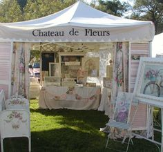 Chateau De Fleurs: Just a Few Photo's of Our June Show Early Friday Morning Before We Opened Market Displays, Store Displays, Craft Booth Displays, Display Ideas, Craft Booths, Window Displays, Pink Icing, Shop Till You Drop, Craft Show Ideas