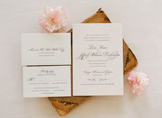 classically gorgeous invites by http://smockpaper.com/  Photography by ktmerry.com