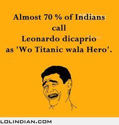 How Indians refer to Leonardo di caprio #funny #lol #humor #desi #asian #www.asianlol.com
