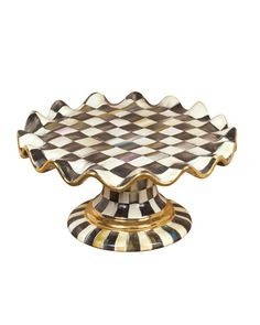 """cakestandsgallery - Courtly Check Cake Stand 12""""D  $425.00"""