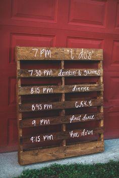 Oak Grove farm Rustic Wedding - Program sign