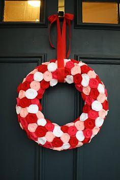 Valentines Day Wreath DIY