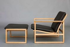 Lounge Chair with Ottoman by Børge Mogensen for Fredericia ...