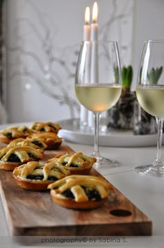 Due bionde in cucina: Cestini di sfoglia con spinaci e mele | Baskets of pastry with spinach and apples