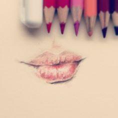 drawing - lips