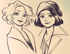 The Goldstein Sisters // Art // Fantastic Beasts // Harry Potter // Fandoms Fanart Harry Potter, Harry Potter Fandom, Harry Potter World, Hogwarts, Fantastic Beasts And Where, Queenie Fantastic Beasts, Fantastic Beasts Fanart, Harry Potter Universal, Art Reference