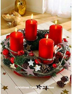 The Advent wreath: the symbol of a fairy-tale holiday season Christmas Advent Wreath, Christmas Candle Decorations, Advent Candles, Christmas Arrangements, Christmas Tablescapes, Noel Christmas, Christmas Candles, Simple Christmas, Christmas Crafts
