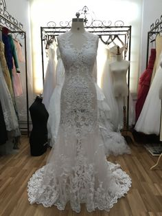 Find More Wedding Dresses Information about Real Pics Sexy Ivory Illusion  Lace Wedding Dresses 2016 Tank Scoop Neck Sequin Beaded Mermaid Bridal  Dresses ... 4f500cf90314