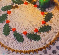 Tecendo Artes em Crochet: Toalhinha Linda para o Natal com gráfico!