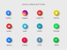 Social media app buttons illustration   Premium Vector #Freepik #vector #logo #business #technology #facebook Social Media Buttons, Social Media Banner, Social Media Logos, Map Vector, Vector Free, Most Popular Social Media, Website Icons, 3d Icons, Medium App