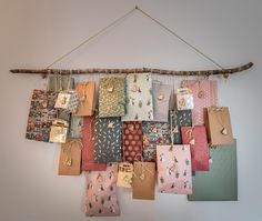 DIY : calendrier de l'avent, papier sostrene grene