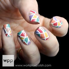Easy Stained Glass Nail Art with the Seche Perfectly Poised Collection - work / play / polish