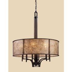 new foyer possibility Westmore Lighting 6-Light Barringer Aged Bronze Chandelier