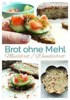 Brot ohne Mehl ist ganz einfach zu backen. Mit flexiblen Zutaten kann das Brot auch glutenfrei gebacken werden. Das Müsli-Brot in  Portionen einfrieren und vor dem Verzehr toasten: köstlich und immer habt ihr etwas vom Wunderbrot greifbar! https://einfachstephie.de/2016/01/12/brot-ohne-mehl-mein-muesli-brot-zum-basenfasten/