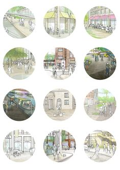 New Absolutely Free Urban Planning perspective Style Seeing that a metropolitan planner, ones mission is always to advice the elegant growth and deve. Urban Design Concept, Urban Design Diagram, Landscape Architecture Portfolio, Landscape Design, Interior Design Presentation, Presentation Boards, Architectural Presentation, Architectural Models, Architectural Drawings