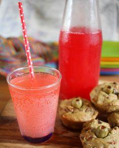 Raspberry lemonade from Green Gourmet Giraffe blog