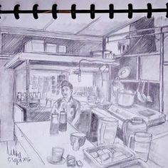 Warkop (2) - Warung kopi sebrang Perpustakaan Pusat Unpad Dipati Ukur#art #drawing #pencil #paper #scetch #warkop #dipatiukur #unpad #letsdraw City Sketch, Drawings, Sketches, Instagram, Art, Lashes, Art Background, Kunst, Draw