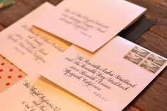 Wedding calligraphy by Kelle Anne McCarter of Designs Girl   junebugweddings.com  
