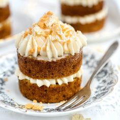 Mini Hummingbird Cakes with Pineapple Cream Cheese frosting – elegant and delicious, the perfect party treat.