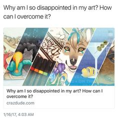 """New advice blog for fellow artists feeling conflicted about their work: """"Why am I so disappointed in my art? How can I overcome it?"""" Now available at http://ift.tt/2aTwYjQ"""