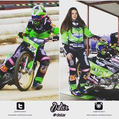 @michelle.koe representing all the ladies who race bikes 👊🏻 #dstar #racewear #germany #speedway #racing #ladies #women #bikes #mx #motorbikes #female #girlracer #german #sport #motorsport #winning #newkit #racesuit
