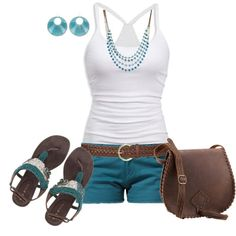 Colored shorts and accessories