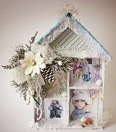 Мастер-класс от Ирины Чепиковой. Vintage Christmas, Christmas Crafts, Christmas Decorations, Holiday Decor, Fun Crafts, Crafts For Kids, Paper Crafts, Album Scrapbook, Shadow Box Art