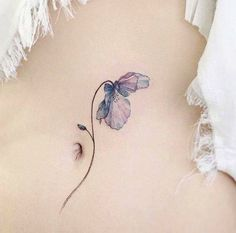 Incredibly delicate flower tattoo by tap for credit :) by inspirational_tattoos_ideas Mini Tattoos, Body Art Tattoos, New Tattoos, Small Tattoos, Cool Tattoos, Tatoos, Heart Tattoos, Girly Tattoos, Nature Tattoos