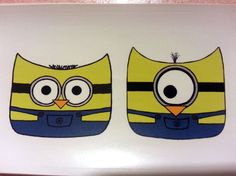 Minion Owls Despicable Me sticker by mimiboo on Etsy, $1.50