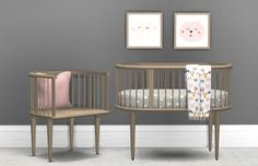 Heyden Nursery• Crib (7982 Polys) • Blanket (3696 Polys) • Chair (3734 Polys) • Pillow (360 Polys) • Painting (150 Polys) Simfileshare / Mediafire Notes: I'd recommend this set for decorators, and...
