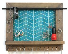 Wall Hanging Jewelry Organizer With Shelf #PennyLaneCompany