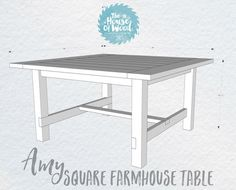 DIY Square Farmhouse Table Plans Farmhouse Kitchen Tables, Farmhouse Table Plans, Diy Kitchen, Farmhouse Windows, Farmhouse Style, Square Dining Room Table, Diy Dining Table, Square Tables, Farm Table Diy