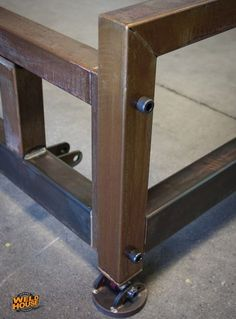 "The Weld House Lowboy bed frame is an industrial design made from TIG welded heavy wall steel tubing and 1/8"" plate steel. It will last forever with no creaking or breaking."