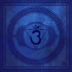 Chakra Art Archival Print: Third Eye Chakra Anja Sacred Geometry 10x10 Print