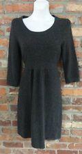 $39.95 OBO Women's J Crew Dark Gray Turtle Neck Cashmere Blend Sweater Dress Size: Small Free Shipping