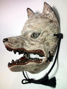 Japan a very nice maskDog God mask. Japan a very nice mask Mask Japanese, Japanese Wolf, Tattoo Japanese, Japanese Kimono, Japanese Style, Kubo And The Two Strings, Kitsune Mask, Wolf Mask, Art Japonais