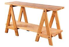 Ellis Trestle Table, Chestnut on OneKingsLane.com