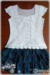 Tina's handicraft : crochet blouse with wavy finishes Crochet Tops ⋆ Page 17 of 21 ⋆ Crochet Kingdom free crochet patterns) Crochet pattern for a delicate white cotton lace top. Crochet pattern: tank top, decorative shoulders (good for refashions) Dif Débardeurs Au Crochet, Mode Crochet, Crochet Buttons, Crochet Shirt, Crochet Jacket, Crochet Woman, Crochet Cardigan, Crochet Summer Tops, Crochet Tops