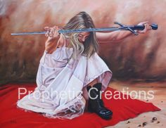 """""""Entrusted Sword"""" Artist: Ilse Kleyn. To purchase work/prints visit: http://propheticcreations.com/IlseKleyn """"The Sword entrusted to us is eternal. In this blade all the victories of the past are linked to the impossibilities of the present, and hope for the future…"""