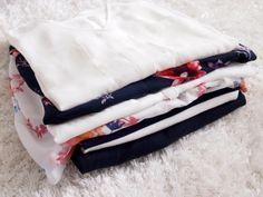 shoppat, shopping, shirts, white, navy blue, flowers, stripes, spring
