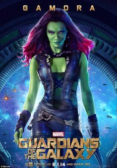 'I like being in space because there are better parts for women in space': The Avatar actress will plays green-skinned superhero Gamora - the last of the Zen Whoberi species - in the Marvel superhero flick