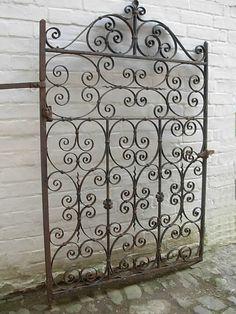 Attractive Antique Wrought Iron Garden Gate