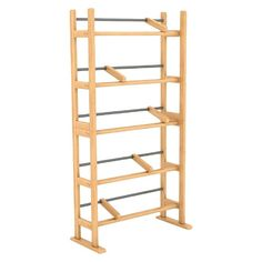 Element Media Storage Rack - Maple - Atlantic, Brown