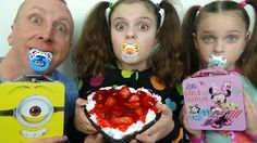 Bad Baby Valentines Toy Baskets Cake Giant Challenge Messy Victoria Annabelle Freak Family Unboxing - YouTube