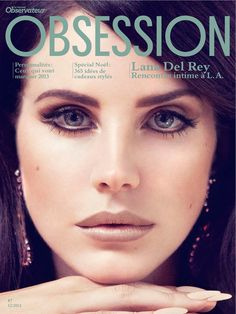 Lana Del Rey Dons Retro Chic for the Cover Story of Obsession Magazine #7