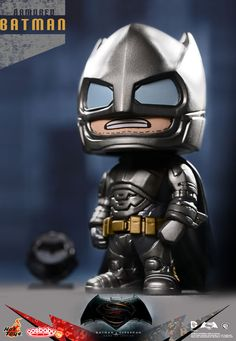 Hot Toys - Cosbaby (S) Series COSB197-198 - Batman v Superman: Dawn Of Justice - Armored Batman and Superman (Includes Miniature Bat-Signal) - The Falcon's Hangar