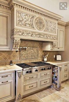 Tuscan Kitchen Design, Luxury Kitchen Design, Tuscan Design, Tuscan Style, Kitchen Interior, Kitchen Decor, Kitchen Ideas, Cheap Kitchen, Kitchen Designs