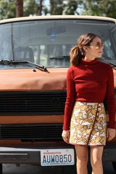 Pair a patterned miniskirt with a sweater for a cozy yet trendy look for fall. @FYI Style Unzipped series reveals the story behind the miniskirt.